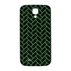 Brick2 Black Marble & Green Colored Pencil Samsung Galaxy S4 I9500/i9505  Hardshell Back Case