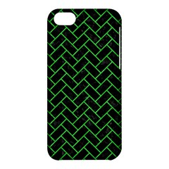 Brick2 Black Marble & Green Colored Pencil Apple Iphone 5c Hardshell Case by trendistuff