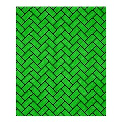 Brick2 Black Marble & Green Colored Pencil (r) Shower Curtain 60  X 72  (medium)  by trendistuff