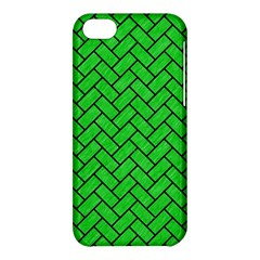 Brick2 Black Marble & Green Colored Pencil (r) Apple Iphone 5c Hardshell Case by trendistuff