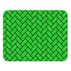 Brick2 Black Marble & Green Colored Pencil (r) Double Sided Flano Blanket (large)