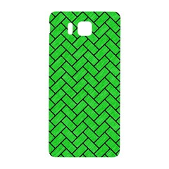 Brick2 Black Marble & Green Colored Pencil (r) Samsung Galaxy Alpha Hardshell Back Case by trendistuff