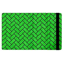 Brick2 Black Marble & Green Colored Pencil (r) Apple Ipad Pro 9 7   Flip Case by trendistuff