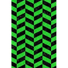 Chevron1 Black Marble & Green Colored Pencil 5 5  X 8 5  Notebooks by trendistuff