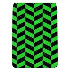 Chevron1 Black Marble & Green Colored Pencil Flap Covers (s)  by trendistuff