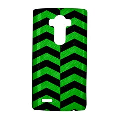 Chevron2 Black Marble & Green Colored Pencil Lg G4 Hardshell Case by trendistuff
