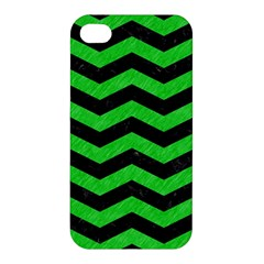 Chevron3 Black Marble & Green Colored Pencil Apple Iphone 4/4s Hardshell Case by trendistuff