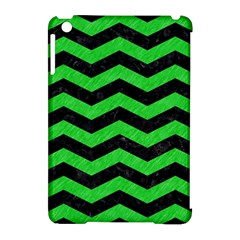 Chevron3 Black Marble & Green Colored Pencil Apple Ipad Mini Hardshell Case (compatible With Smart Cover) by trendistuff