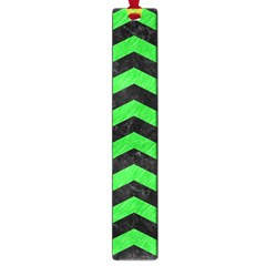 Chevron3 Black Marble & Green Colored Pencil Large Book Marks by trendistuff