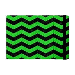 Chevron3 Black Marble & Green Colored Pencil Ipad Mini 2 Flip Cases by trendistuff