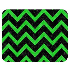 Chevron9 Black Marble & Green Colored Pencil Double Sided Flano Blanket (medium)  by trendistuff