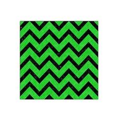 Chevron9 Black Marble & Green Colored Pencil (r) Satin Bandana Scarf by trendistuff