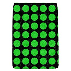 Circles1 Black Marble & Green Colored Pencil Flap Covers (s)  by trendistuff