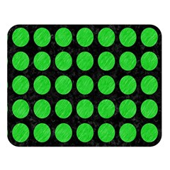 Circles1 Black Marble & Green Colored Pencil Double Sided Flano Blanket (large)  by trendistuff