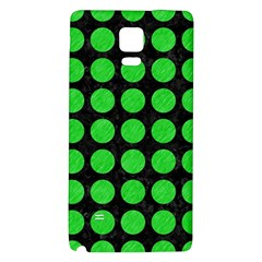 Circles1 Black Marble & Green Colored Pencil Galaxy Note 4 Back Case by trendistuff