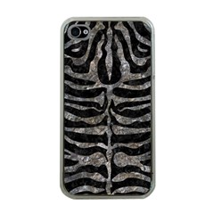 Skin2 Black Marble & Gray Stone Apple Iphone 4 Case (clear) by trendistuff