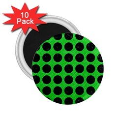 Circles1 Black Marble & Green Colored Pencil (r) 2 25  Magnets (10 Pack)  by trendistuff