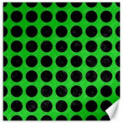 Circles1 Black Marble & Green Colored Pencil (r) Canvas 12  X 12   by trendistuff