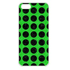 Circles1 Black Marble & Green Colored Pencil (r) Apple Iphone 5 Seamless Case (white) by trendistuff