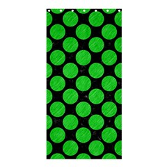 Circles2 Black Marble & Green Colored Pencil Shower Curtain 36  X 72  (stall)  by trendistuff