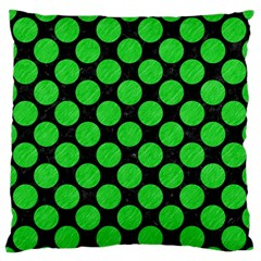 Circles2 Black Marble & Green Colored Pencil Standard Flano Cushion Case (one Side) by trendistuff