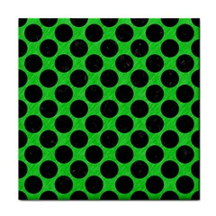 Circles2 Black Marble & Green Colored Pencil (r) Face Towel by trendistuff