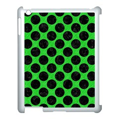 Circles2 Black Marble & Green Colored Pencil (r) Apple Ipad 3/4 Case (white) by trendistuff