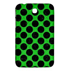 Circles2 Black Marble & Green Colored Pencil (r) Samsung Galaxy Tab 3 (7 ) P3200 Hardshell Case  by trendistuff
