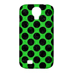 Circles2 Black Marble & Green Colored Pencil (r) Samsung Galaxy S4 Classic Hardshell Case (pc+silicone) by trendistuff
