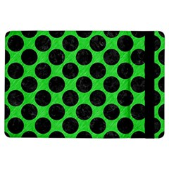 Circles2 Black Marble & Green Colored Pencil (r) Ipad Air Flip
