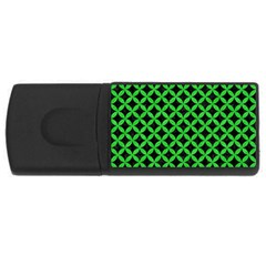 Circles3 Black Marble & Green Colored Pencil Rectangular Usb Flash Drive by trendistuff