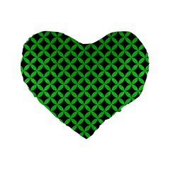 Circles3 Black Marble & Green Colored Pencil Standard 16  Premium Heart Shape Cushions by trendistuff