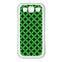 Circles3 Black Marble & Green Colored Pencil Samsung Galaxy S3 Back Case (white)