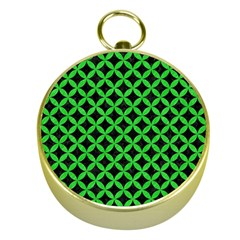 Circles3 Black Marble & Green Colored Pencil Gold Compasses by trendistuff