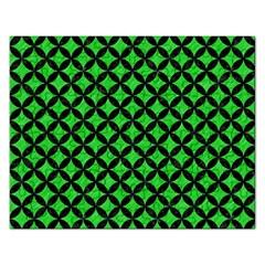 Circles3 Black Marble & Green Colored Pencil (r) Rectangular Jigsaw Puzzl by trendistuff