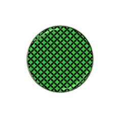 Circles3 Black Marble & Green Colored Pencil (r) Hat Clip Ball Marker by trendistuff