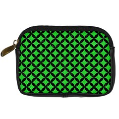 Circles3 Black Marble & Green Colored Pencil (r) Digital Camera Cases by trendistuff