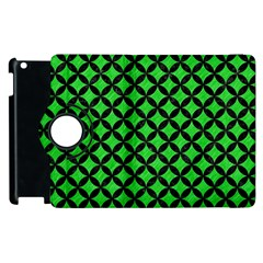 Circles3 Black Marble & Green Colored Pencil (r) Apple Ipad 2 Flip 360 Case by trendistuff