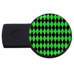 Diamond1 Black Marble & Green Colored Pencil Usb Flash Drive Round (4 Gb)