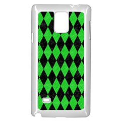 Diamond1 Black Marble & Green Colored Pencil Samsung Galaxy Note 4 Case (white) by trendistuff