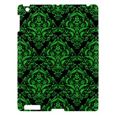 Damask1 Black Marble & Green Colored Pencil Apple Ipad 3/4 Hardshell Case by trendistuff