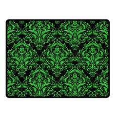 Damask1 Black Marble & Green Colored Pencil Double Sided Fleece Blanket (small)  by trendistuff