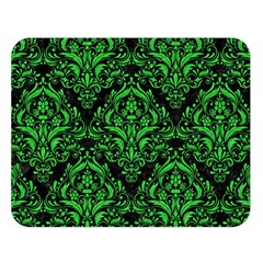 Damask1 Black Marble & Green Colored Pencil Double Sided Flano Blanket (large)  by trendistuff
