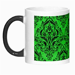 Damask1 Black Marble & Green Colored Pencil (r) Morph Mugs by trendistuff