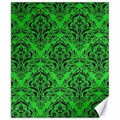 Damask1 Black Marble & Green Colored Pencil (r) Canvas 20  X 24   by trendistuff
