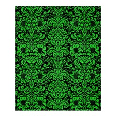 Damask2 Black Marble & Green Colored Pencil Shower Curtain 60  X 72  (medium)  by trendistuff