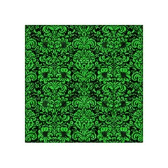 Damask2 Black Marble & Green Colored Pencil Acrylic Tangram Puzzle (4  X 4 )