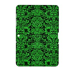 Damask2 Black Marble & Green Colored Pencil Samsung Galaxy Tab 2 (10 1 ) P5100 Hardshell Case  by trendistuff