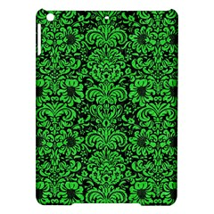 Damask2 Black Marble & Green Colored Pencil Ipad Air Hardshell Cases by trendistuff