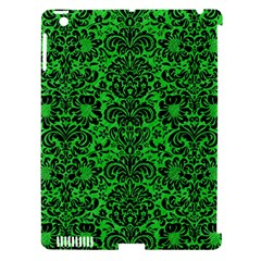 Damask2 Black Marble & Green Colored Pencil (r) Apple Ipad 3/4 Hardshell Case (compatible With Smart Cover) by trendistuff